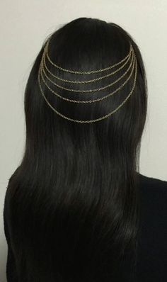 Bohemian Hair Chain by ArialsCharms on Etsy
