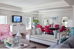 Emily Ruddo- Armonia Decors -- Benjamin Moore Classic Gray - in my living and dining room featured in High Gloss Mag