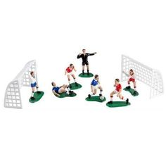 """<p><span style=""""font-size: small;"""">Create a football match on top of your cake with this fun decoration set.</span></p> <p><span style=""""font-size: small;"""">Ideal for any football lovers birthday cake!<br /></span></p>"""