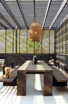 tolles aussehen - terrasse mit einer coolen überdachung