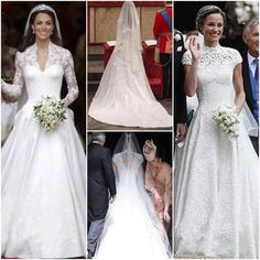 """4,456 Likes, 232 Comments - @world_royalties on Instagram: """"Which Middleton Sisters Wedding Dress would you pick? Catherine OR Pippa"""""""