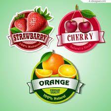 Cherry with strawberry and orange labels vector Fruit Juice, Fresh Fruit, Ice Cream Illustration, Fruit Logo, Juice Packaging, Fruit Vector, Decoupage, Strawberry Ice Cream, Vector Free