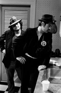 LIVE Episode 14 Air Date Pictured John Belushi as Rico Dan Aykroyd as Eliot Ness during 'The Untouchables' skit on February 21 1976 Photo by NBCU...