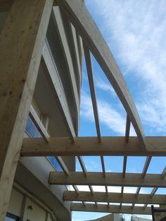 New wooden pergola-HOTEL CACTUS RHODES ISLAND