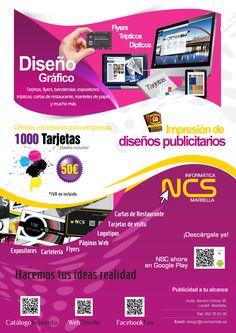 ¿Necesitas flyers? En NCS te hacemos presupuesto de lo que necesitas para hacer tu publicidad, imprimimos y diseñamos.