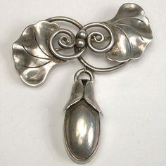 Georg Jensen Sterling Pin With Drop
