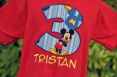 Personalized Mickey Mouse Kids Birthday by AddieKakesKreations, $23.00