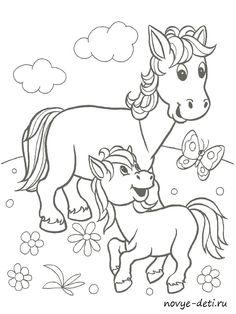 Раскраска с образцами Домашние животные Farm Animal Coloring Pages, Coloring Book Pages, Coloring Pages For Kids, Coloring Sheets, Cartoon Drawings, Easy Drawings, Animal Drawings, Color Me Mine, Farm Quilt