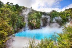 'An Infernal Bath', New Zealand, Waimangu Volcanic Valley, Inferno Crater Lake