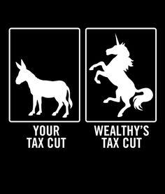 Visual aid for Trump Tax Plan - Your Tax Cut vs Wealthy's Tax Cut