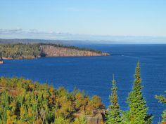 Shovel Point from Palisade Head.  Tettegouche State Park.  along Minnesota's north shore, Lake Superior