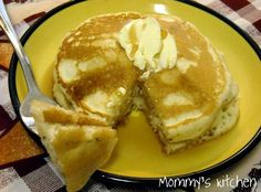 Perfect Pancakes 3 - cups plus 2 tablespoons cake flour - teaspoon salt 3 - tablespoons baking powder 2 - tablespoons sugar 2 - cups milk or buttermilk 2 - large eggs 3 - teaspoons vanilla 4 - tablespoons butter (melted) Lots of butter and cake recipe