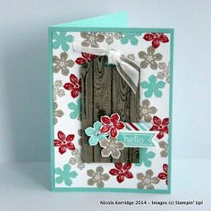 Petite Petals and Hardwood tag card