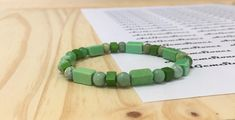 6mm Green Apple Turquoise Gemstones Tibetan Flower Stretch Bracelet, Healing Chakra Protection Scorpio Sagittarius Aquarius Pisces Bracelet de ArtGemStones en Etsy