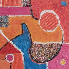 Geen titel, schilderij van Anita Dielen   Abstract   Modern   Kunst