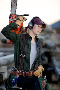 Amber Williams, Carpenter and Timber Production Manager at OSM in Bozeman, Montana / Crafted in Carhartt Redneck Girl, Construction Worker, Power Girl, Lingerie, Working Woman, Carhartt, Beauty Women, Work Wear, Clothes For Women