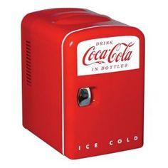 Cool gift!  Koolatron, Coca Cola Personal Fridge, KWC-4 at The Home Depot - Mobile