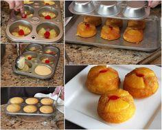 Comment bricolage délicieux ananas Cupcakes à l'envers