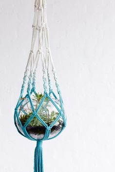macrame, DIY ombre macrame, macrame plant hanger