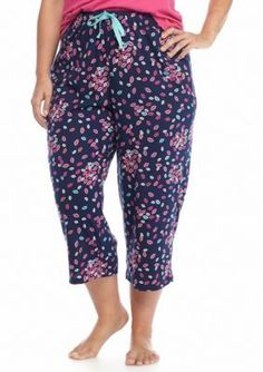 New Directions Intimates  Plus Size Windy Kiss Knit Capris
