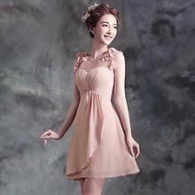Angel Bridal - Sleeveless Flower Accent Mesh Panel Party Dress