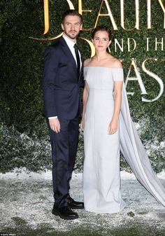 Leading duo: It wasn't long before Dan joined Emma for the magical red carpet action...
