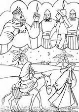 Mary and Joseph Flight Into Egypt Coloring Pages