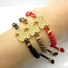 2015 venta caliente! hombres y mujeres de cuero joyería de la cuerda de Nylon de la osa menor pulseras brazaletes oso encantador pulseras de calidad superior(China (Mainland))