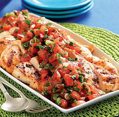 Grilled Chicken with Tomato, Lime & Cilantro Salsa