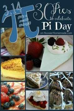 30 Pies for Pi Day | on HoosierHomemade.com