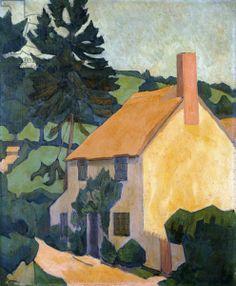 Robert Polhill Bevan (English, 1865-1925) Devon Cottage, c.1920-24 (oil on canvas)