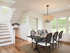 Board and Batten in Farmhouse Dining Room