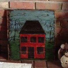 Primitive house on wood