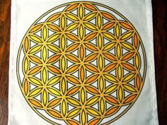 12x12 Solar Sacral Chakra Flower of Life by AngelsMadeSimple