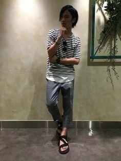 RAGEBLUEルミネエスト店 | 伊井さんのTシャツ/カットソー「RAGEBLUE パイルポケット付きTシャツ/564678」を使ったコーディネート