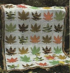Direct link to free pattern - Crochet Maple Leaf Afghan