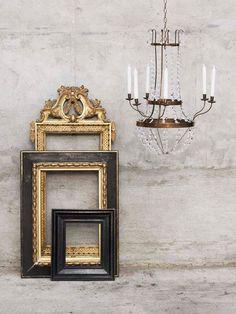 Superbe #black #frames Have A Power Over A #room And Gives #stage To · Empty  FramesFrame Mirrors ChandeliersDecorating Ideau0027sDecor IdeasAntique ...