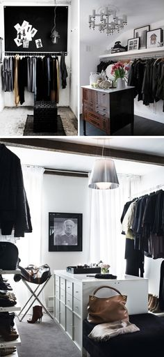 Love the top two in this photo! | 25 crazy closet ideas via Architecture Art Designs