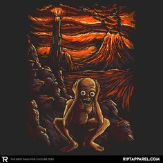 The Scream in Mordor T-Shirt - Gollum T-Shirt is $11 today at Ript!
