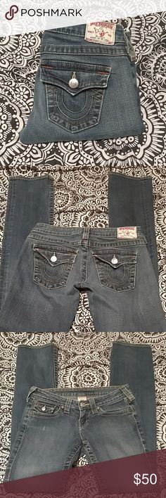 True Religion Billy Jeans Billy Style jeans from True Religion. Size 26, with an inseam of 32 inches. True Religion Jeans