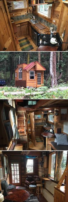 Located on Marrowstone Island, a short drive from Port Townsend, Washington, is the Unique Craftsmen Tiny House. The tiny home is available for nightly rental through Airbnb.