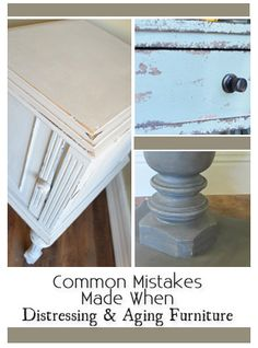 Diy Furniture : Common Mistakes Made When Distressing Aging Painted Furniture - DIY Loop Laminate Furniture, Furniture Fix, Do It Yourself Furniture, Refurbished Furniture, Repurposed Furniture, Furniture Projects, Furniture Making, Furniture Makeover, Moving Furniture