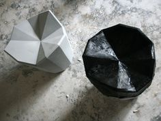 Fractal Stool by mashallahdesigh: All parts are folded out of paper models, stiffened with resin and then molded into ceramics. #Stool #Fractal_Stool #Mashallahdesign