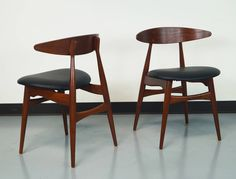 Danish CH-33 Dining Chairs by Hans J. Wegner | From a unique collection of antique and modern dining room chairs at https://www.1stdibs.com/furniture/seating/dining-room-chairs/