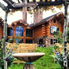 What you'd see if you were to marry at the V3 Ranch in Breckenridge.  >> petalandbean.com >> breckweddings.com