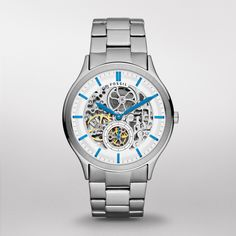 FOSSIL® Watch Styles Mechanical Watches:Men Ansel Stainless Steel Watch ME3021 (in other words, I WANT IT!!!!)