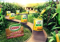 Goody Food Saudi Arabia on Behance Food Graphic Design, Creative Poster Design, Ads Creative, Creative Posters, Creative Advertising, Advertising Design, Ad Design, Graphic Design Inspiration, Advertising Campaign
