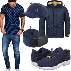 Blaues Herrenoutfit mit Shirt, Cap und Adidas ZX Flux (m0969) #cap #shirt #adidas #jeans #calvinklein #outfit #style #herrenmode #männermode #fashion #menswear #herren #männer #mode #menstyle #mensfashion #menswear #inspiration #cloth #ootd #herrenoutfit #männeroutfit
