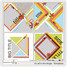 It's all in the Angle - Templates by Scrapping with Liz