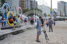 Canadian media during Rio 2016 Olympics talking about dirty water on beautiful Copacabana beach. Photo taken on Aug 5, 2016